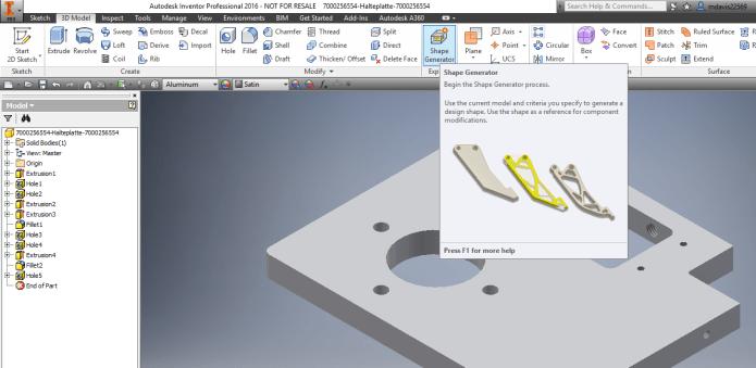 Giao diện thiết kế của phần mềm inventor 2016 sau khi cài đặt và crack