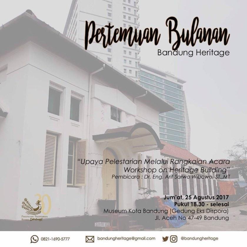 Bandung Heritage, Workshop Agustus