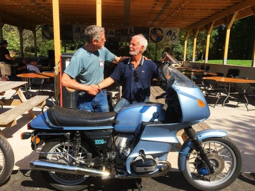 Shaking Hands with Hans Muth Next To My 1977 R100RS