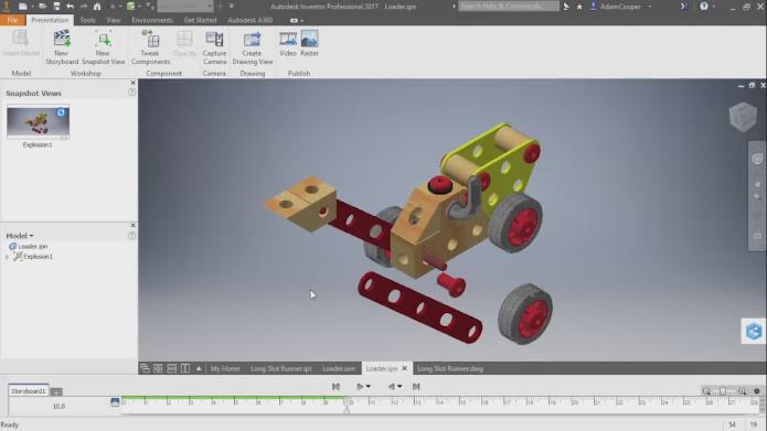 Hình ảnh về video đào tạo phần mềm inventor 2017