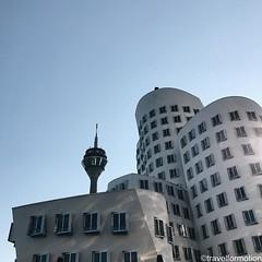 #medienhaven 3/3 #architecture #visitduesseldorf #dusseldorf #düsseldorf #germany #wanderlust #travel #travelphotography #citybreak #visitgermany #guardiancities #guardiantravelsnaps #vsco #vscocam #igtravel #dusseldorf_de #city #blue #summer #sky