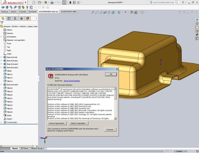 Thiết kế với phần mềm solidworks 2017 SP4.1
