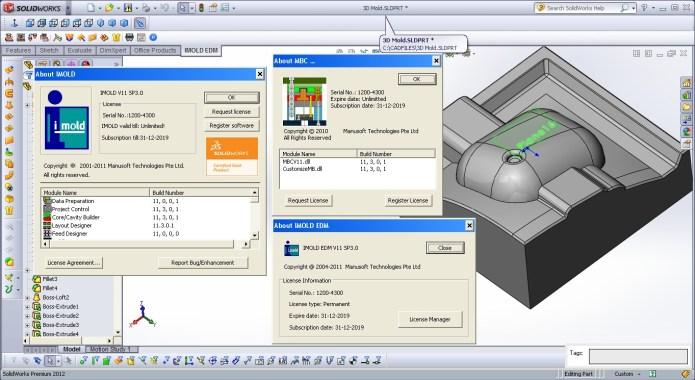 Thiết kế khuôn trên phần mềm imold v11 full crack