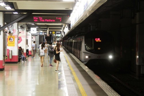 Terminating train arrives at Hung Hom station