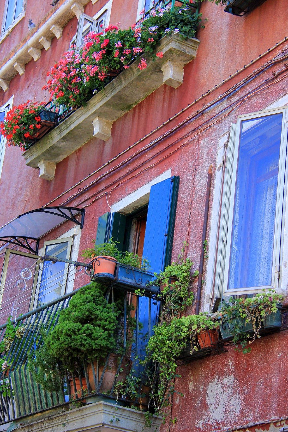 The flowering balconies of Murano