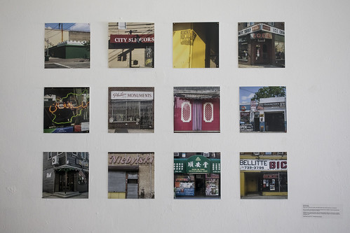 PATRICIA SILVA Much of our Being Twelve colour C-prints from on-going Urbeto series; digital audio recording (3:50 min), and original text.  Much of our Being is multi-media work combining an original text with a selection of original photography taken throughout the borough of Queens from 2006-2017.   Selected from an on-going book project, Urbeto, the selected images in Much of our Being point to a collective experience of respatialized diasporas through labor. This selection also includes two of the oldest privately-held businesses in NYC.   Food Forum: July 28, 2017 1-3PM (see event schedule)