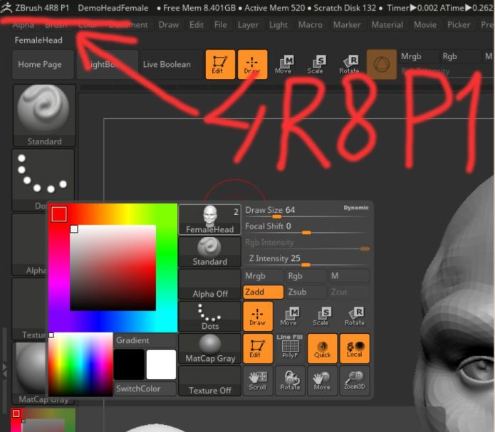 Working with Pixologic ZBrush 4R8 P1 full license