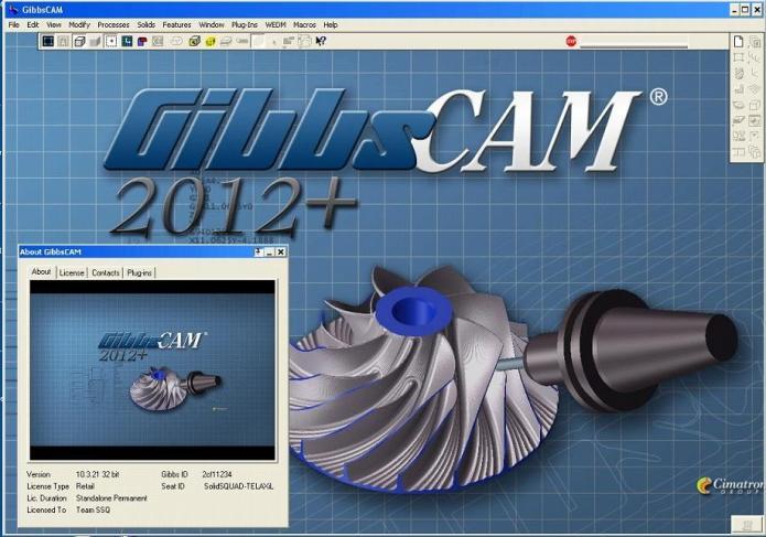 Làm việc với Phần mềm Gibbscam 2012 32bit - 64bit full license