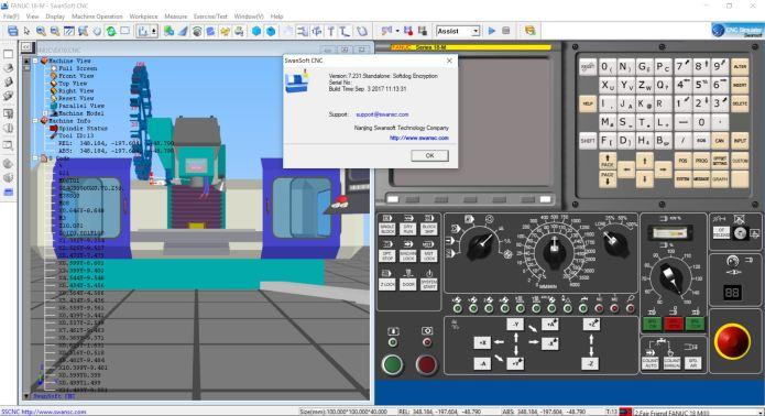 CNC simulation with Nanjing Swansoft CNC Simulator 7.231 full