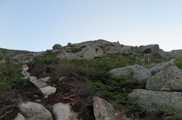 Katahdin Abol Trail Enter Boulders