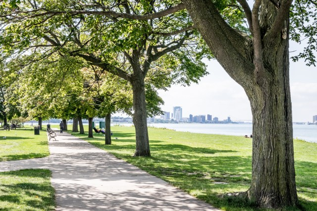 Belle Isle Park is quiet on a warm sunny afternoon