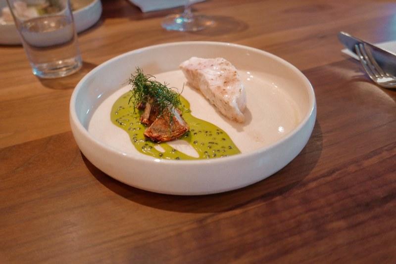 Sturgeon, Artichoke, Caviar, Lovage (Tasting Menu)