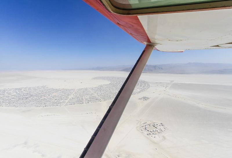 Flying over Black Rock City with Purple Haze, Burning Man 2017