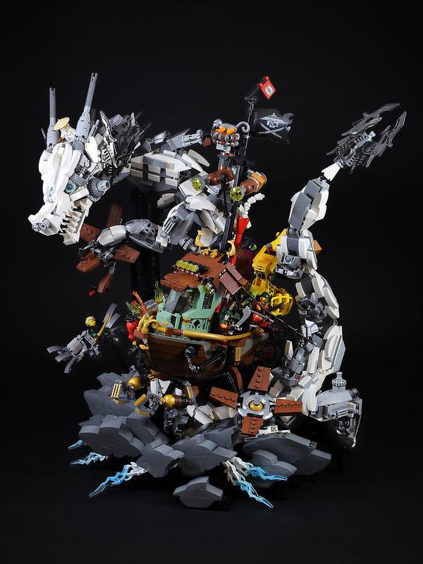 LEGO Ninjago White Dragon attack Sky Pirate