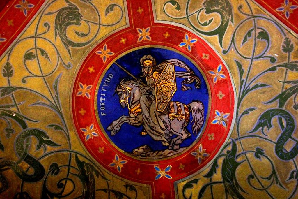 Artwork inside the Cochem Castle