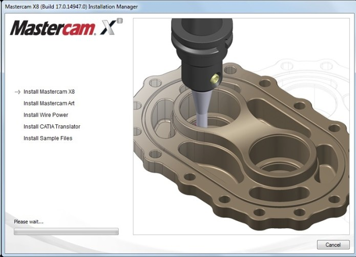 Phần mềm mastercam X8 - 64 bit full crack