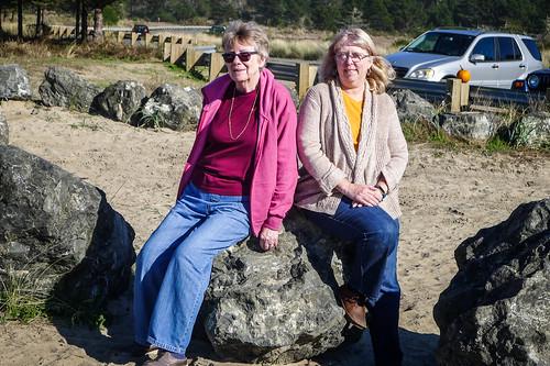 Laura and Ellen at Bastendorff Beach-001