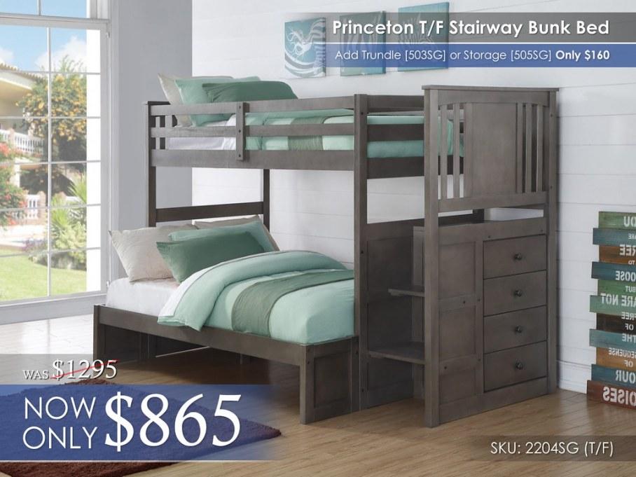 Princeton TF Bunk Bed 2204-TTSG