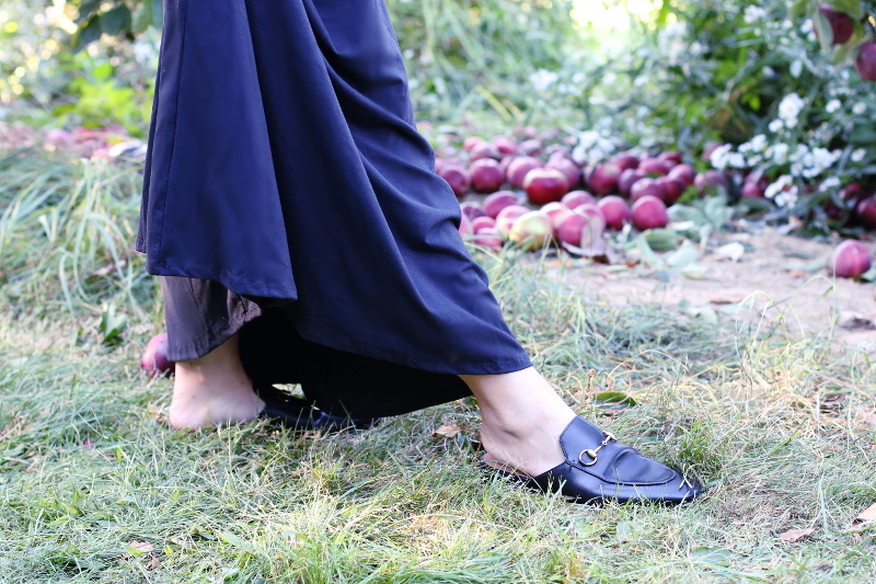 apples-black-dress-gucci-princetown-slippers-1