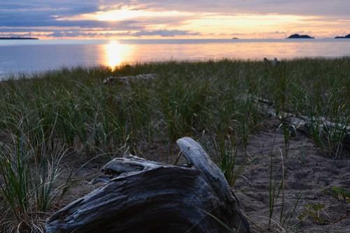 Lake Superior Beach sunset