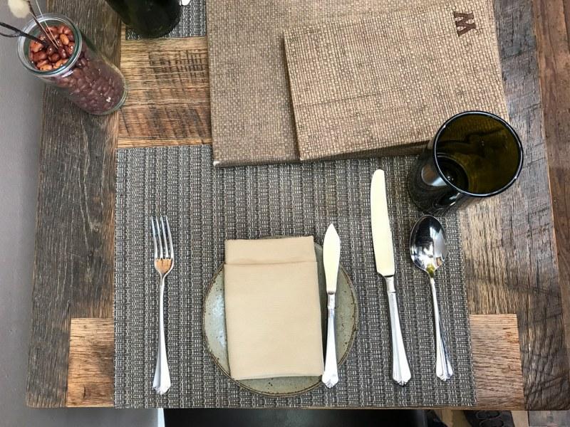 Table setting at Husk