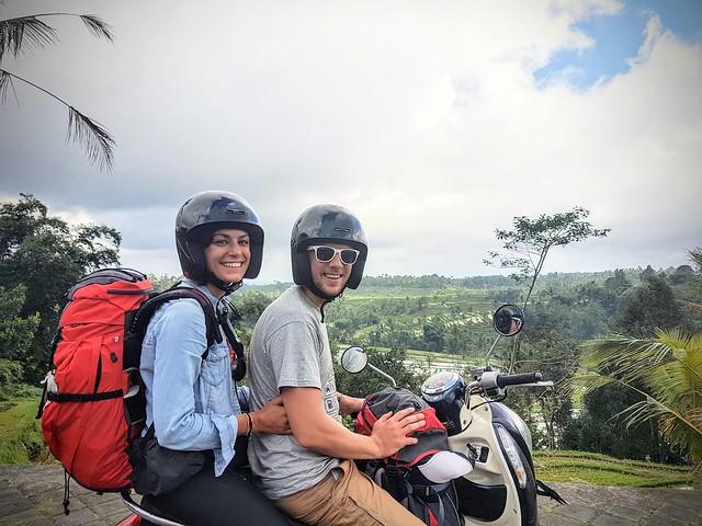 Les rizières de Ubud en scooter