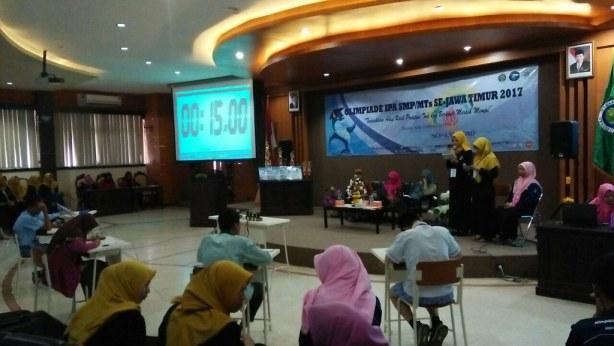 Alfath saat di babak final Olimpiade IPA SMP UM Malang