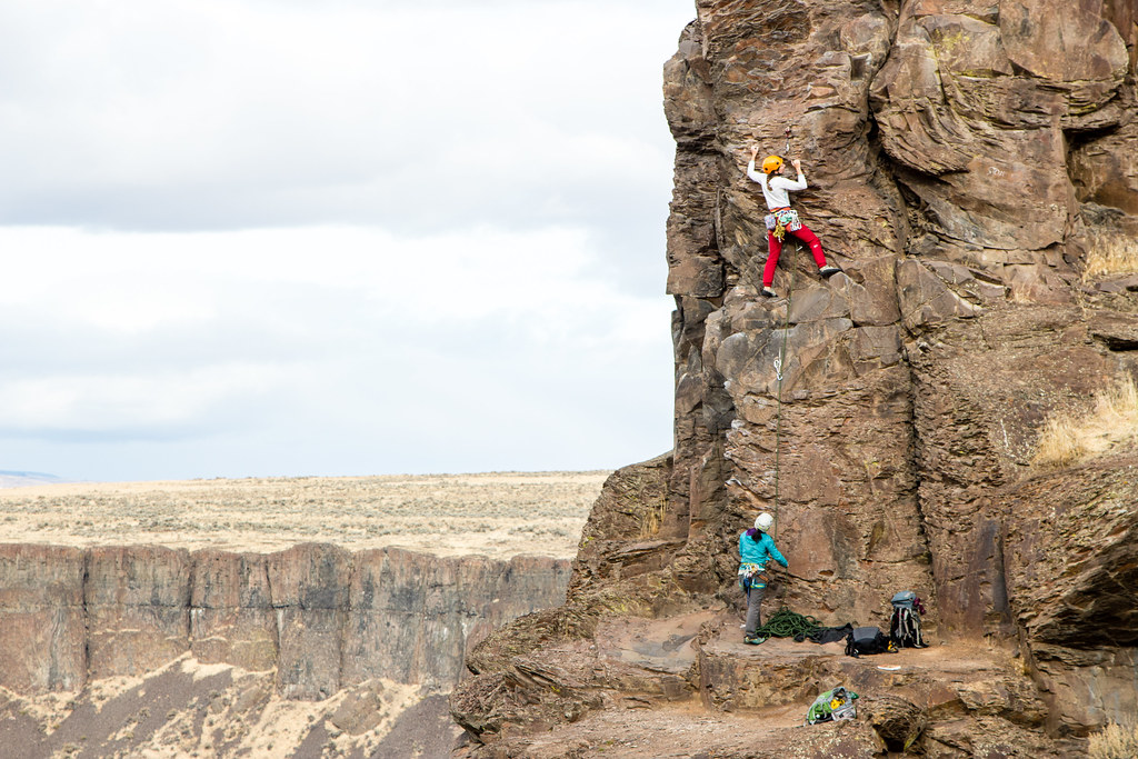 Climbing in Vantage