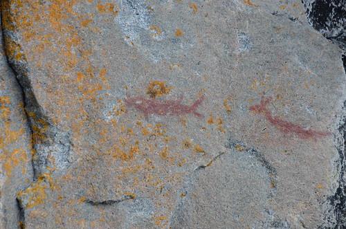 Lake Superior Park pictographs 1