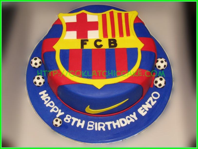 Cake Barcelona Fc Enzo Jual Kue Ulang Tahun