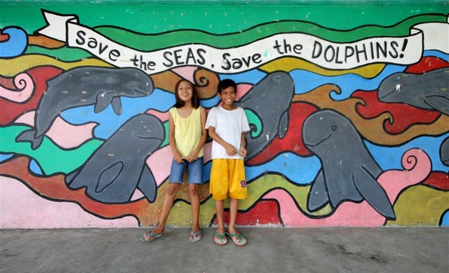 Irrawaddy Dolphin Mural