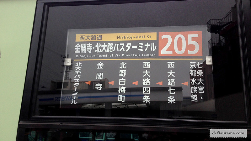 3 Hari Keliling Kyoto - Bus to Kinkakuji Temple
