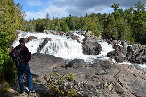 Lake Superior Provincial Park Sand Lake hike and falls
