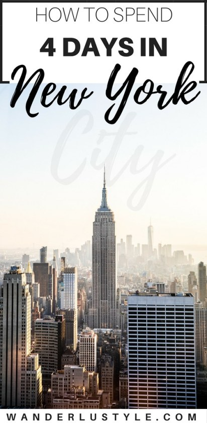 How to Spend 4 Days in New York City - New York City Itinerary, New York City Travel Tips, New York City Travel Guide, New York City Things To Do | Wanderlustyle.com