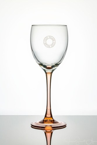 Wine Glass on White by Jeanie Sumrall-Ajero