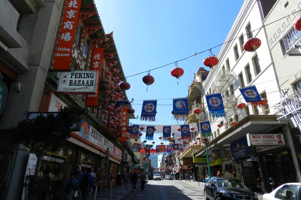 Calles y edificios en Barrio Chino San Francisco Caifornia EEUU 11