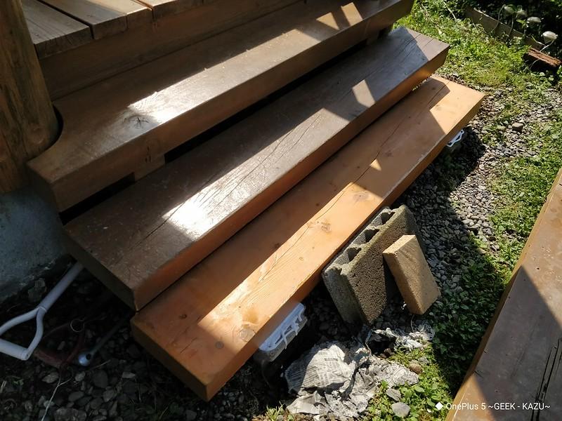 ベランダの階段修理 (8)