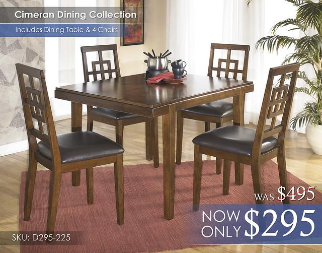 Cimeran Dining Set D295-225-SD