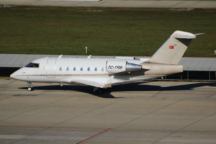 Bombardier Challenger 604 Basaran TC-TRB. GVA, October 14. 2017