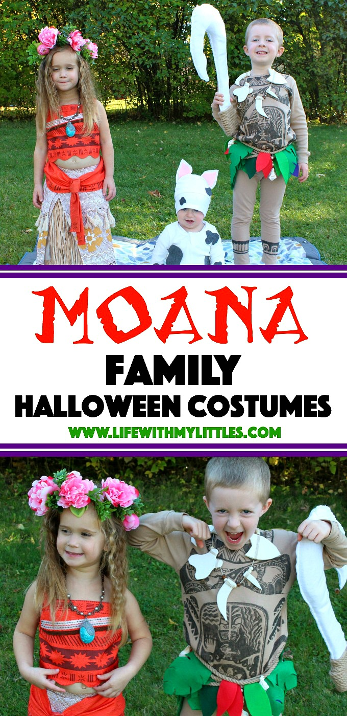 These Moana family Halloween costumes are so cute! Love the DIY no-sew baby  sc 1 st  Life With My Littles & DIY Moana Family Halloween Costumes - Life With My Littles