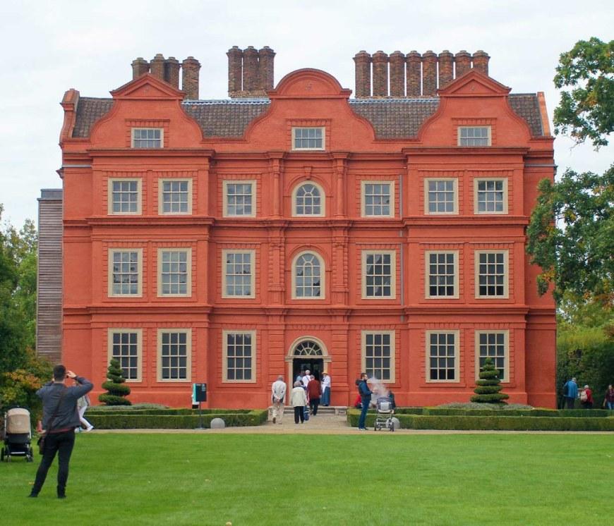 A view of the Kew Palace at Kew Gardens, London