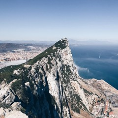 The #rock #gibraltar #visitgibraltar #wanderlust #travel #vsco #vscocam #guardiantravelsnaps #landscape #nature #sea #blue #summer #sky