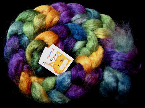 Purple Mountain Majesty - October 2017 Tiger Club - Wensleydale Wool Combed Top