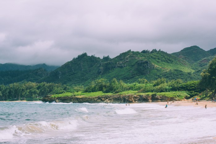 Oahu Beach Guide - A Perogy and Panda Hawaii Travel Guide - Pounder's Beach - Ocean Trampoline