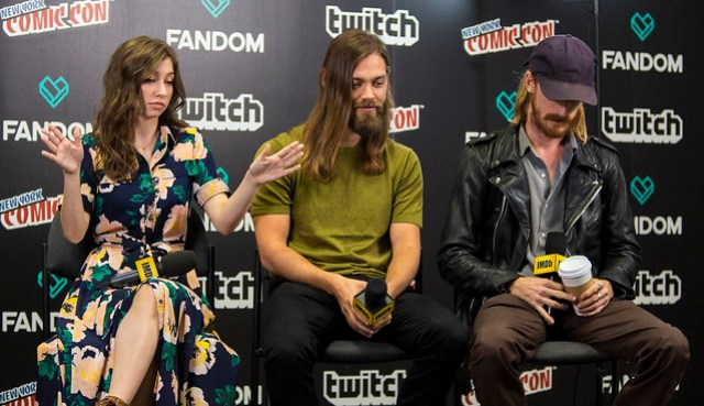 Katelyn Nacon, Tom Payne and Austin Amelio
