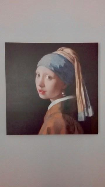 Schilderij meisje met sjaal