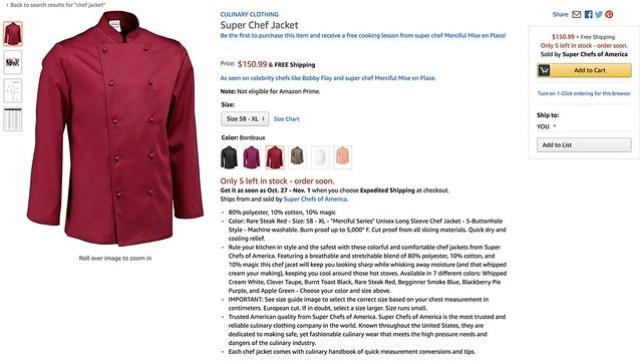 super chef jacket