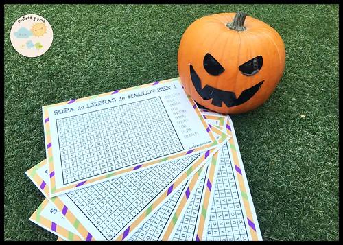 Pasatiempos de Halloween para niños. Imprimible gratis