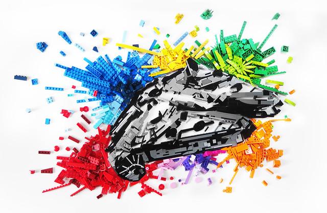 Explosion de couleurs Millennium Falcon