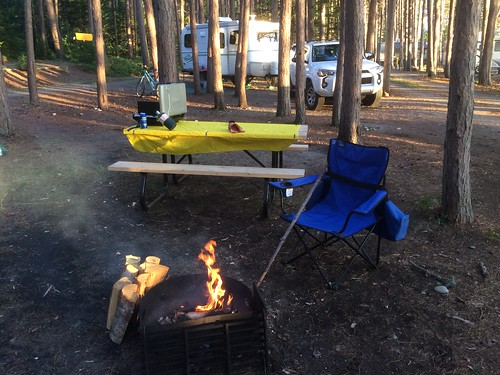 Lake Superior camping fire
